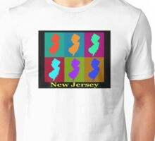 Colorful New Jersey State Pop Art Map Unisex T-Shirt
