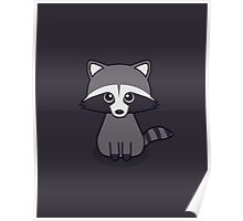 Cute Racoon Poster