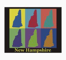 Colorful New Hampshire Pop Art Map Kids Clothes