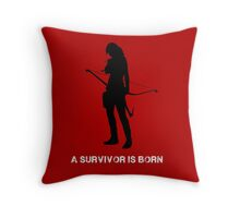 Tomb Raider - A Survivor is Born Throw Pillow