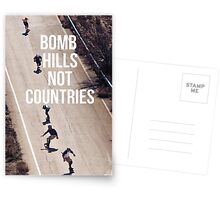 Bomb Hills Not Countries Postcards