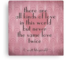 F. Scott Fitzgerald Illustrated Quote Canvas Print