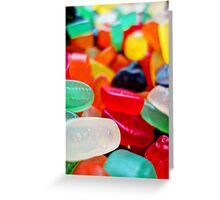 Sweets 01 - Wine Gums Greeting Card