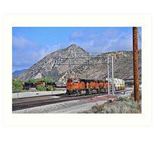 BNSF # 7783 at Cajon Pass Art Print