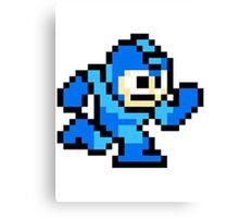 Megaman Run Pixel Canvas Print