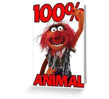 Muppets 100 Animal oder Geburtstagsgeschenk Greeting Card