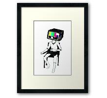 TV Junkie Framed Print