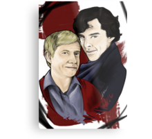 A detective and his blogger Metal Print