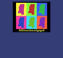 Colorful Mississippi State Pop Art Map Unisex T-Shirt