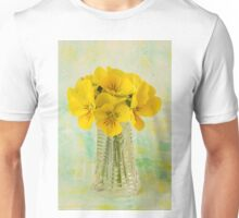 Yellow Pansies In Vase  Unisex T-Shirt