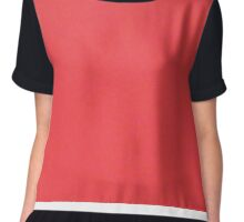 All Red Chiffon Top