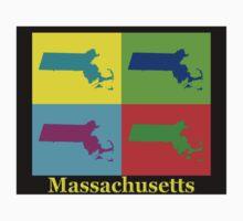 Colorful Massachusetts Pop Art Map Kids Clothes