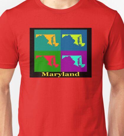 Colorful Maryland Pop Art Map Unisex T-Shirt