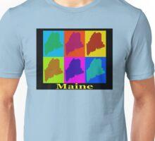 Colorful Maine Pop Art Map Unisex T-Shirt