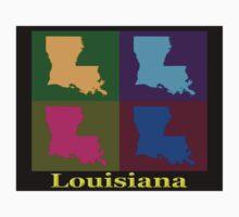 Colorful Louisiana Pop Art Map Kids Clothes