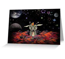 The Martian Dragon Greeting Card