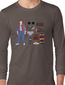 Back to the Future : Time Traveler Essentials 1985 Long Sleeve T-Shirt