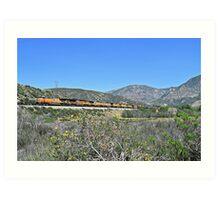 Union Pacific # 5491 at Cajon Pass Art Print