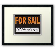 For Sail Framed Print