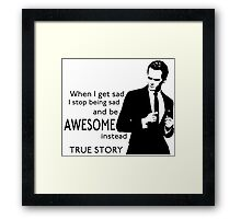 himym Barney Stinson Suit Up Awesome TV Series Inspired Framed Print