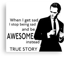 himym Barney Stinson Suit Up Awesome TV Series Inspired Canvas Print
