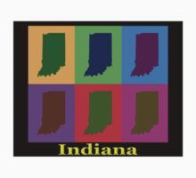 Colorful Indiana State Pop Art Map Kids Clothes
