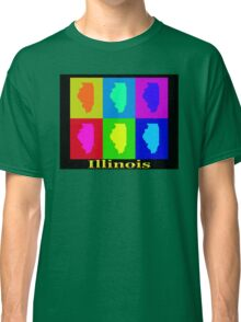 Colorful Illinois State Pop Art Map Classic T-Shirt