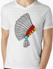 Indian Headdress Mens V-Neck T-Shirt