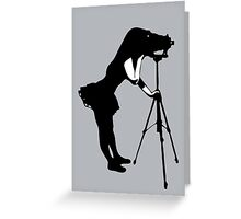 Photographer Grrl Greeting Card