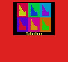 Colorful Idaho State Pop Art Map Unisex T-Shirt
