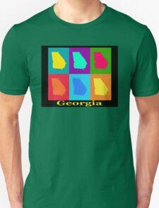 Colorful Georgia State Pop Art Map Unisex T-Shirt