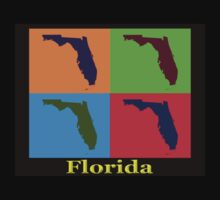 Colorful Florida State Pop Art Map One Piece - Short Sleeve
