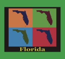 Colorful Florida State Pop Art Map Kids Clothes