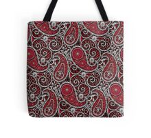 Pushie Paisley Pattern Chrome Tote Bag