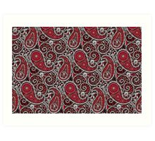 Pushie Paisley Pattern Chrome Art Print