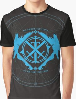 Strength of the Wolf [Blue on Black] Graphic T-Shirt
