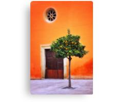 Orange Chapel Canvas Print