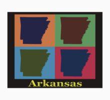 Colorful Arkansas State Pop Art Map Kids Clothes