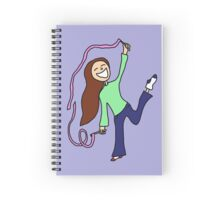 Dancing in my socks with twirly ribbons... Spiral Notebook