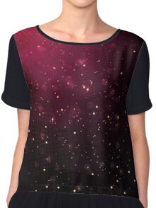 Red Space Chiffon Top