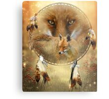 Dream Catcher - Spirit Of The Red Fox Metal Print
