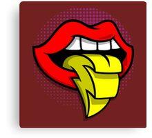 Lighting Tongue Canvas Print