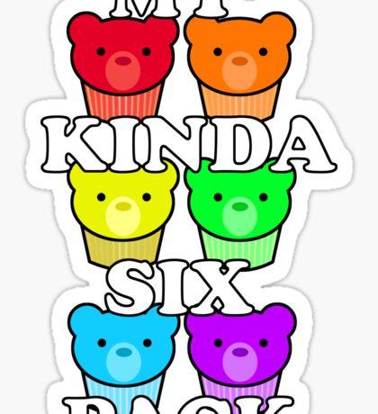 My Kinda Six Pack Sticker