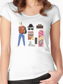 Back to the Future : Time Traveler Essentials 2015 Women's Fitted Scoop T-Shirt