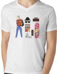 Back to the Future : Time Traveler Essentials 2015 Mens V-Neck T-Shirt