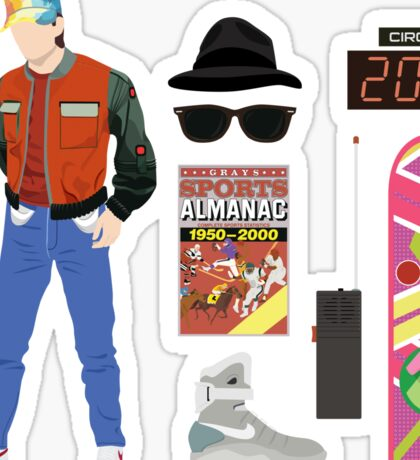 Back to the Future : Time Traveler Essentials 2015 Sticker