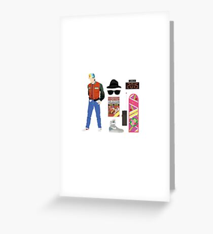 Back to the Future : Time Traveler Essentials 2015 Greeting Card