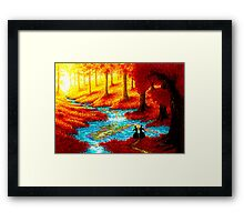 ENJOY THE MOMENT Framed Print
