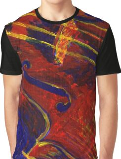 Primary Colors Viola Painting Graphic T-Shirt