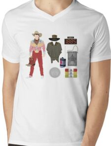 Back to the Future : Time Traveler Essentials 1885 Mens V-Neck T-Shirt